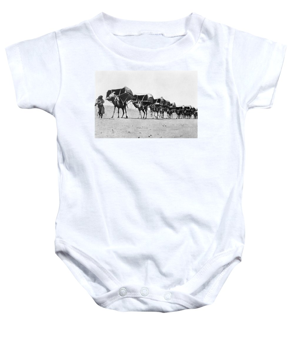 1910 Baby Onesie featuring the photograph Mecca: Caravan, C1910 by Granger