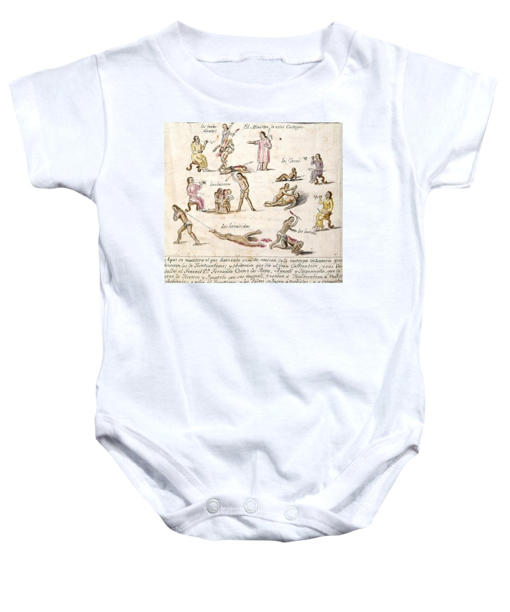 1750 Baby Onesie featuring the photograph Mexico: Indian Punishments by Granger