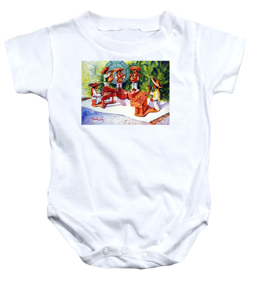 Mexico Painting Baby Onesie featuring the painting Mexico Mariachis by Estela Robles