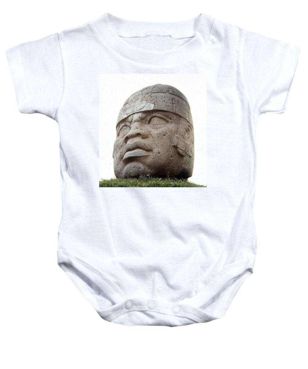 10th Century B.c Baby Onesie featuring the photograph Mexico: Olmec Head by Granger