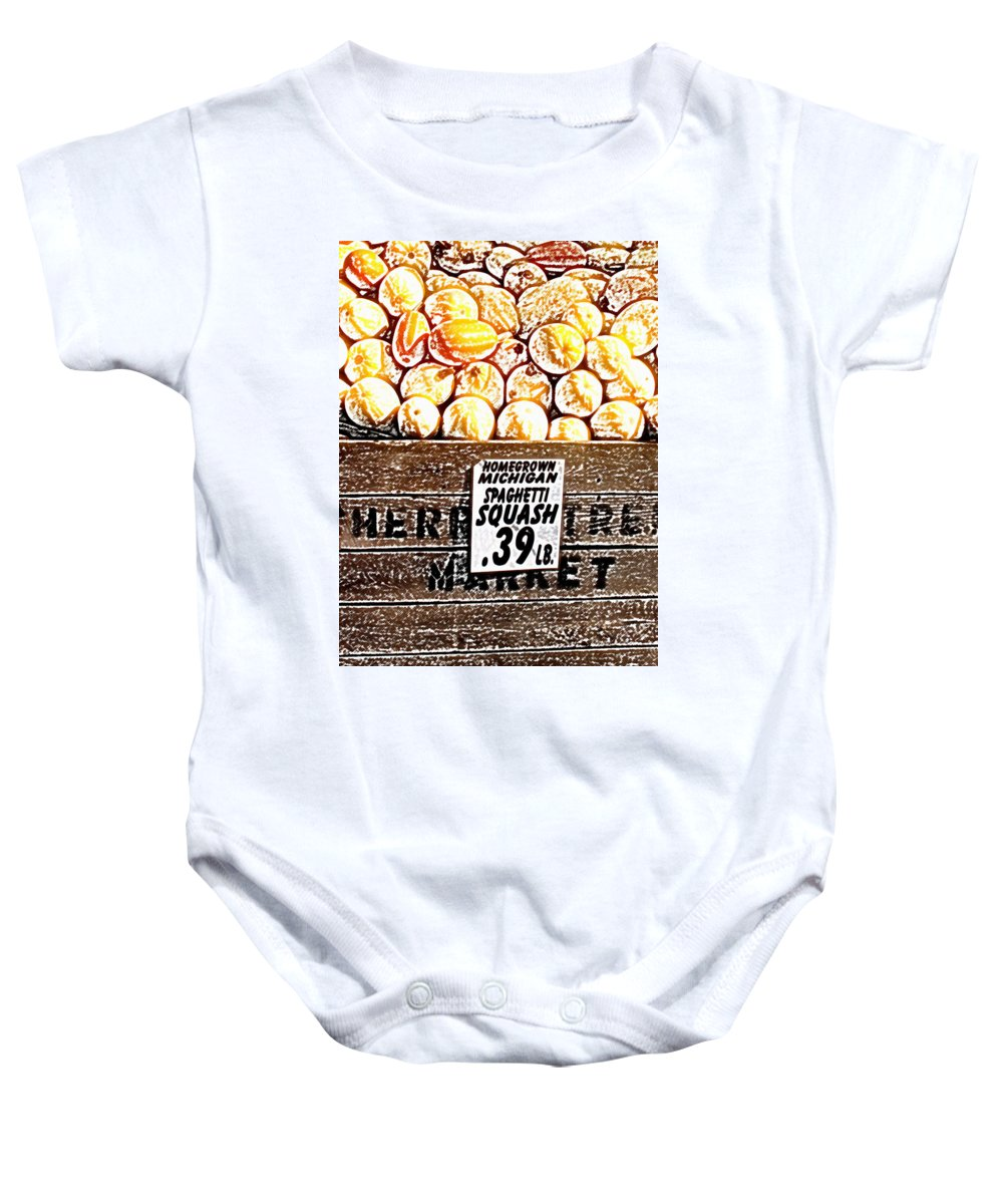 Altered Baby Onesie featuring the photograph Michigan Squash For Sale by Wayne Potrafka