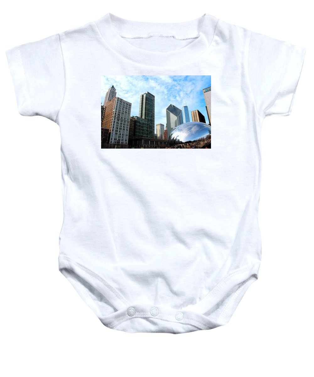 Buildings Baby Onesie featuring the photograph Millennium by Jose Corona