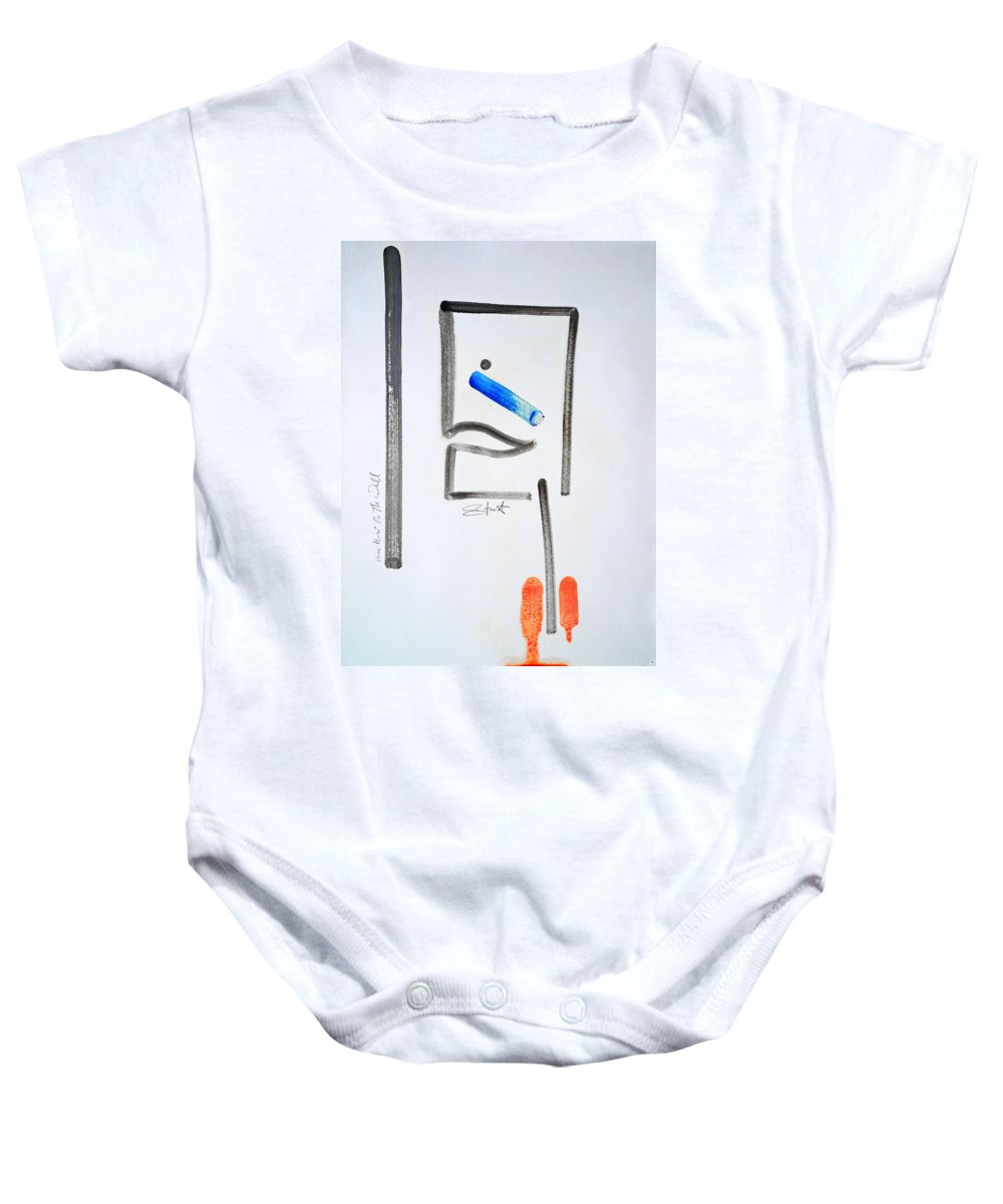 Drawing Baby Onesie featuring the painting Mirror Mirror On The Wall by Charles Stuart