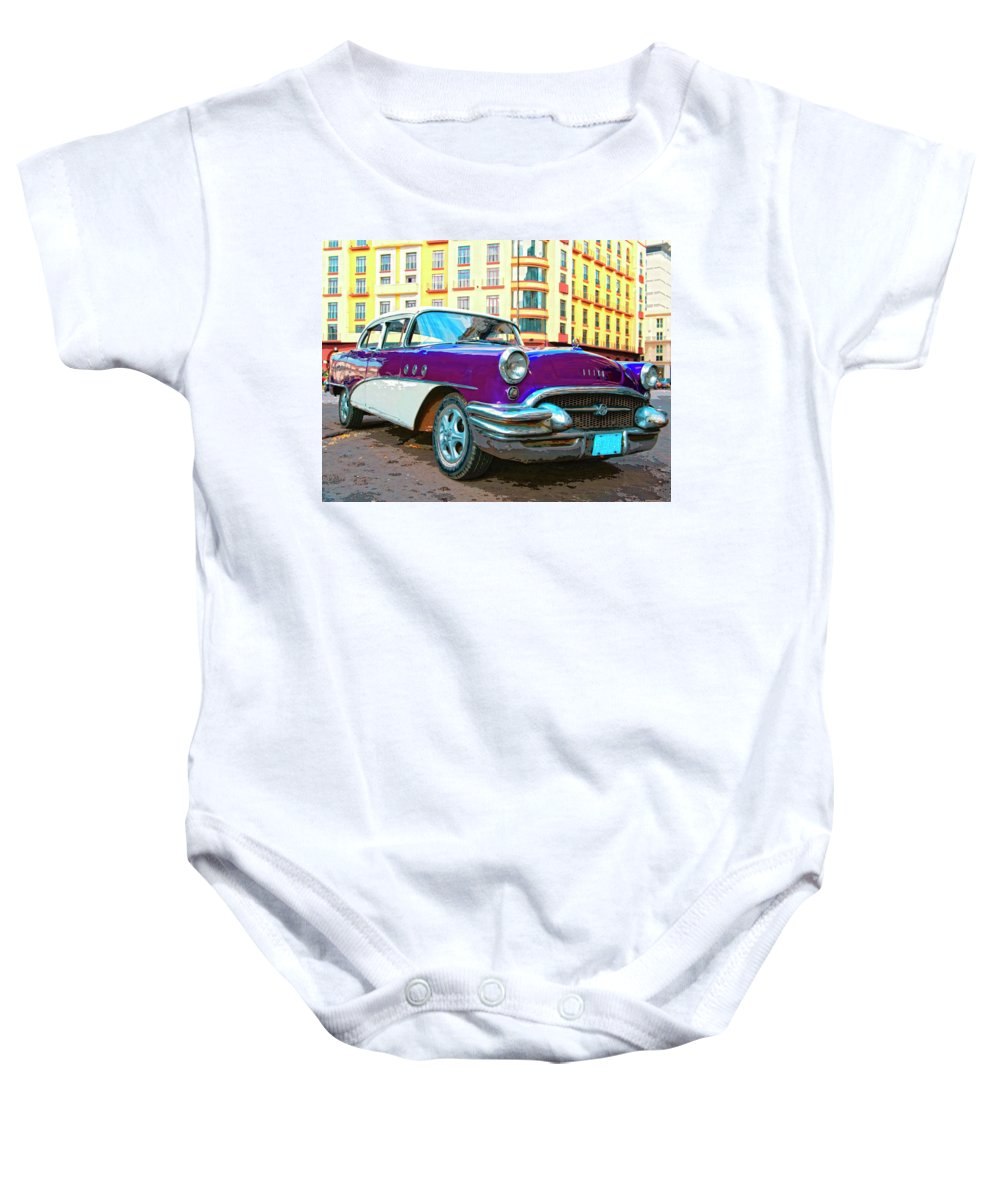 Moby Grape Baby Onesie featuring the mixed media Moby Grape by Dominic Piperata