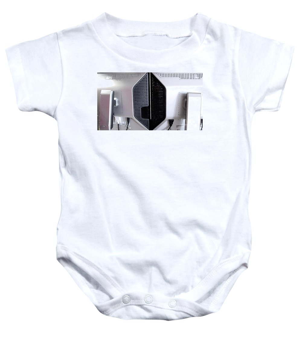 Monitor Baby Onesie featuring the digital art Monitaur by Ron Bissett
