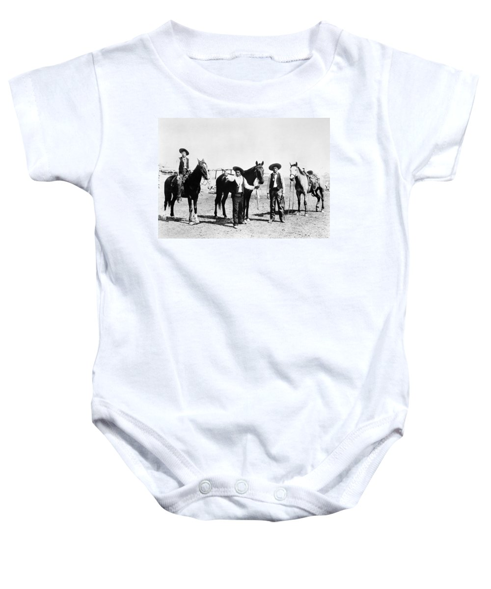 1895 Baby Onesie featuring the photograph Montana: Cowboys, C1895 by Granger