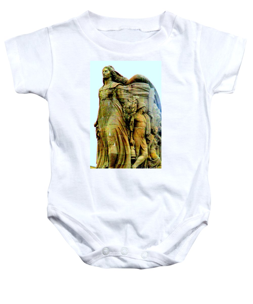Pierre-marie Poisson Baby Onesie featuring the photograph Monument Aux Morts 7 by Randall Weidner