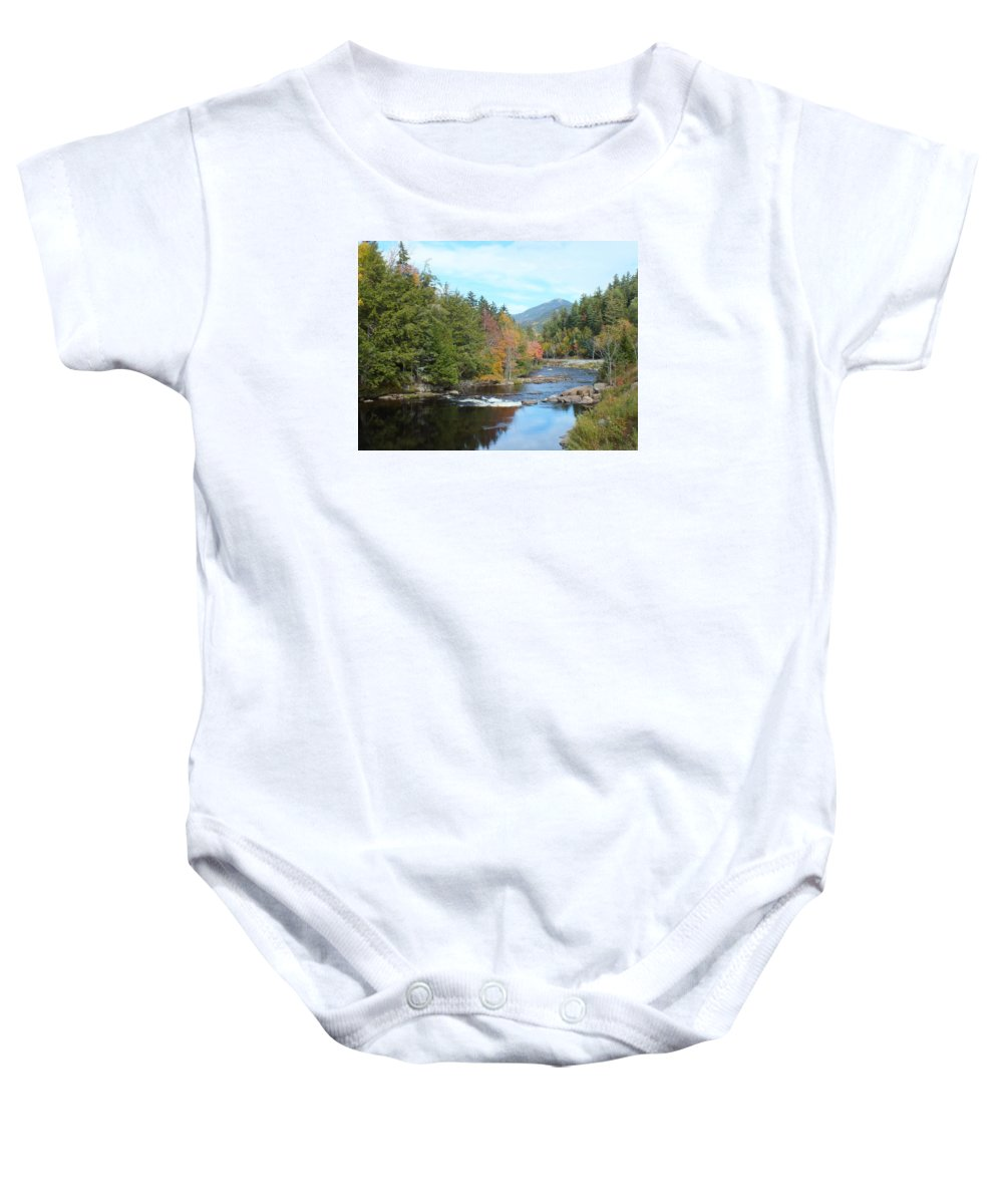 Landscape Baby Onesie featuring the photograph Monument Falls by Patricia Fitz-Gerald