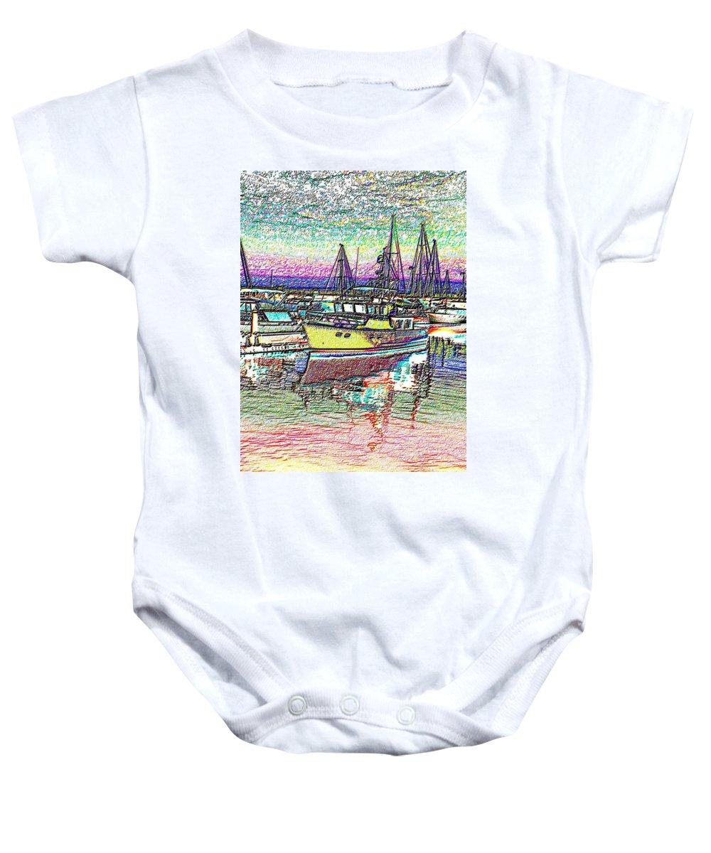 Seattle Baby Onesie featuring the photograph Moorage by Tim Allen