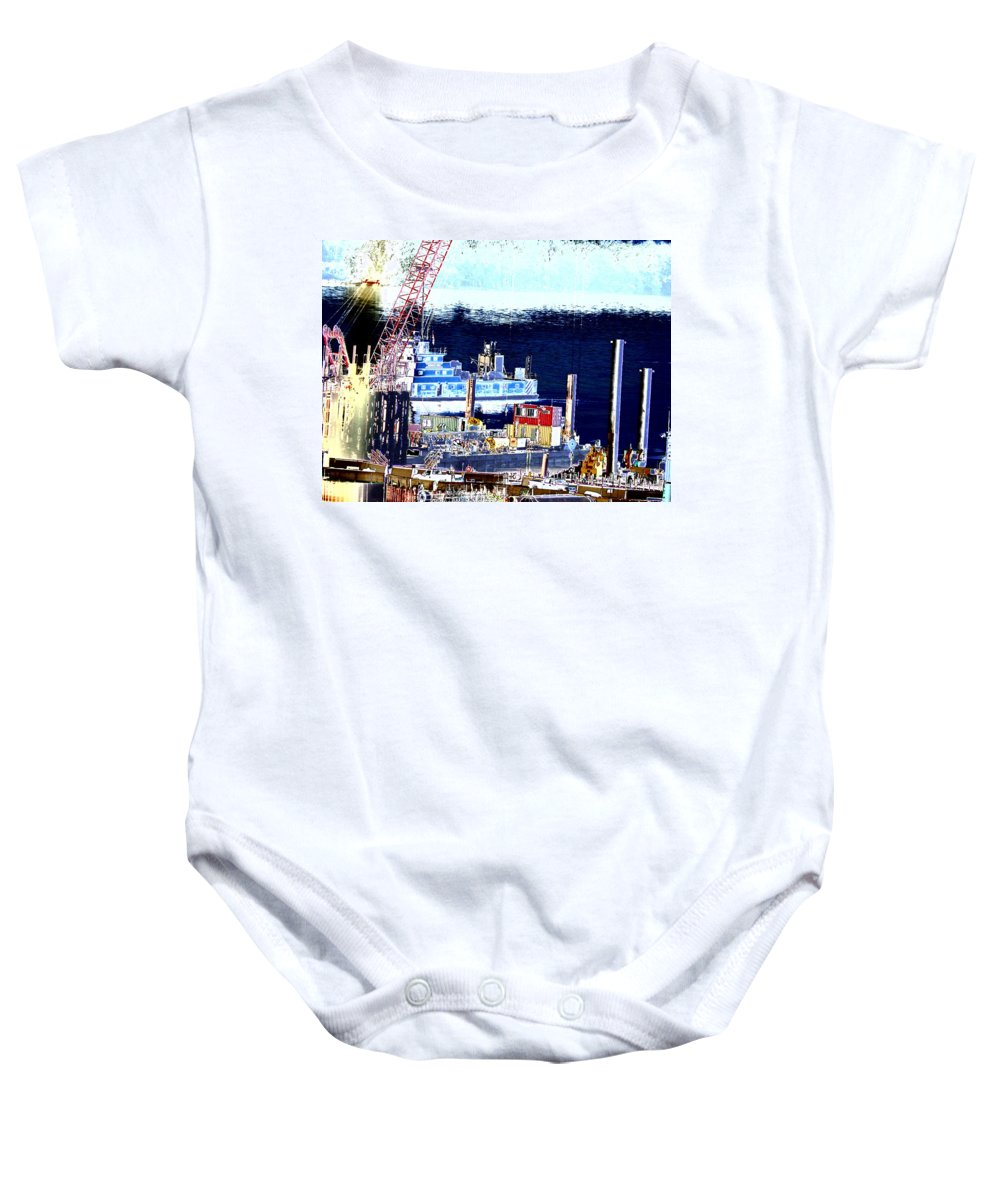 Abstract Baby Onesie featuring the photograph Morning Blooms by Rachel Christine Nowicki