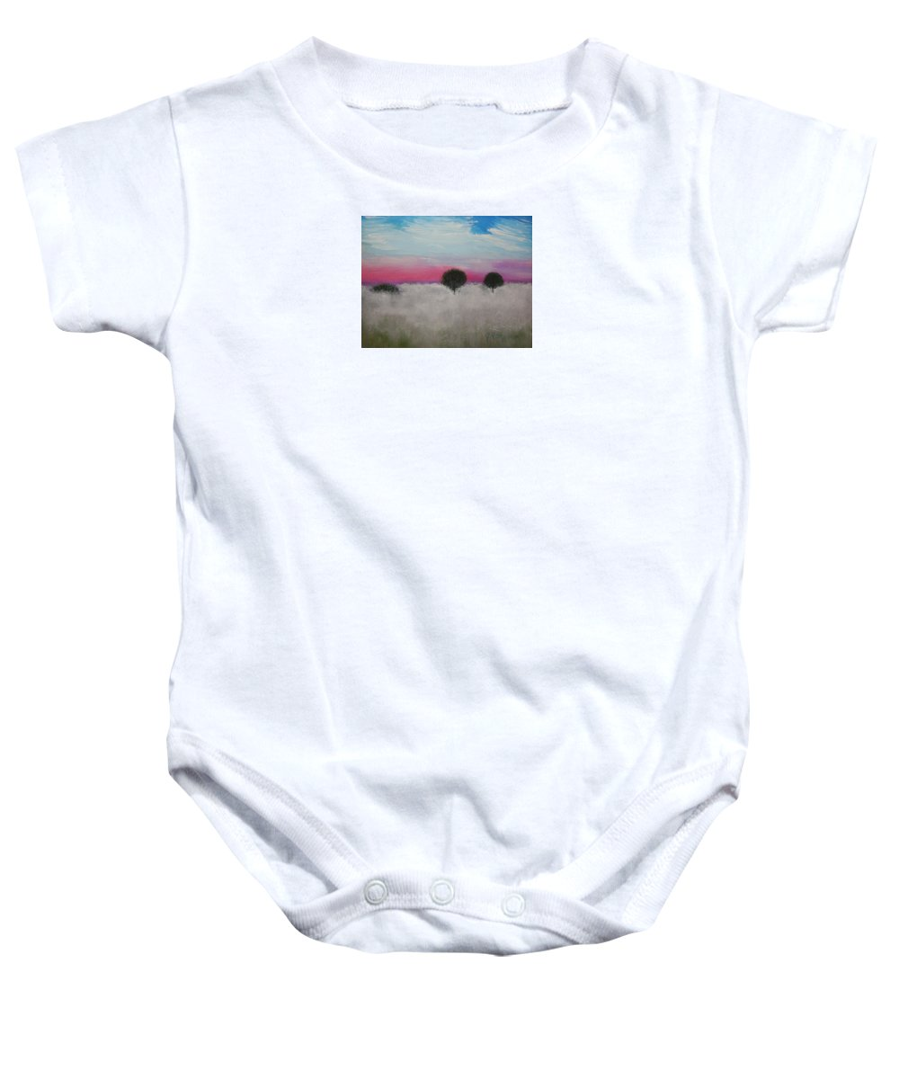 Impressionism Baby Onesie featuring the painting Morning Dew And I'm Thinking Of You by J R Seymour