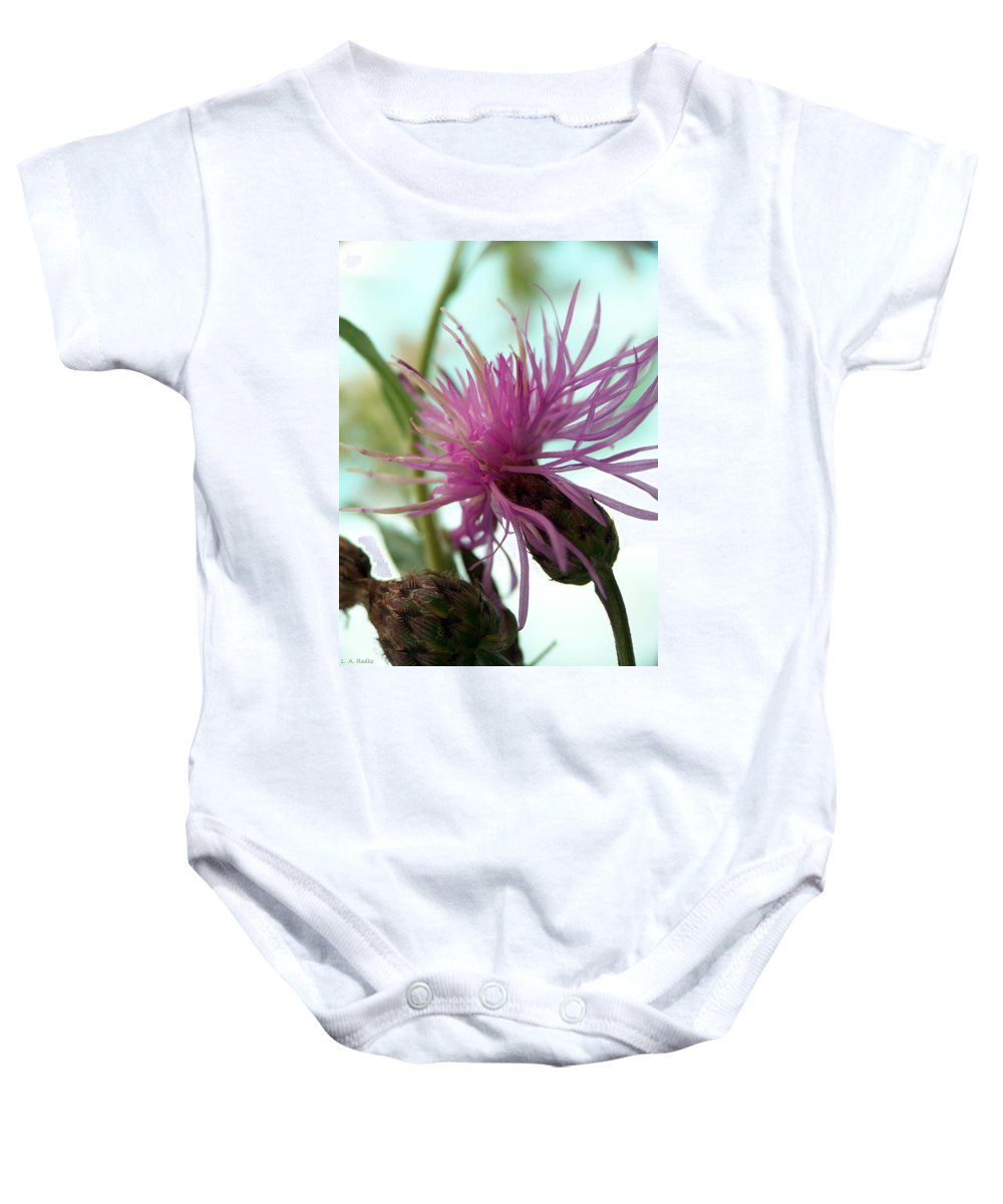 Lauren Radke Baby Onesie featuring the photograph Morning Light by Lauren Radke