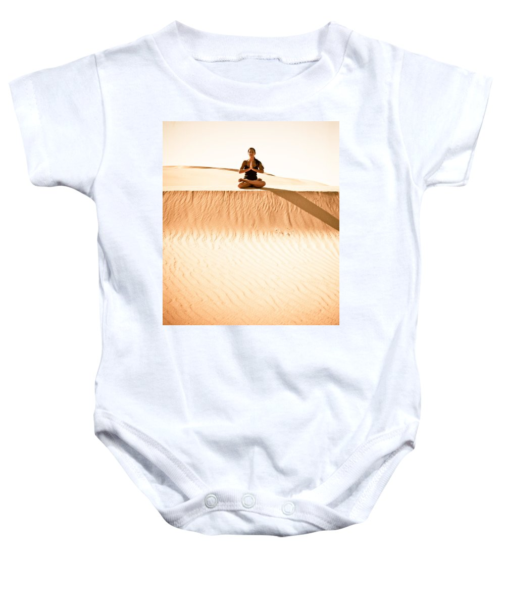 Yoga Baby Onesie featuring the photograph Morning Meditation by Scott Sawyer