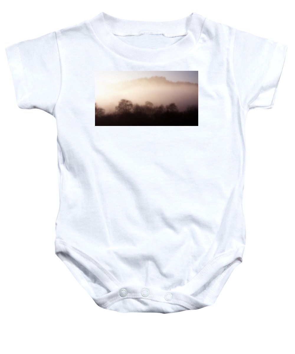 Landscape Baby Onesie featuring the photograph Morning Mist by Cliff Norton