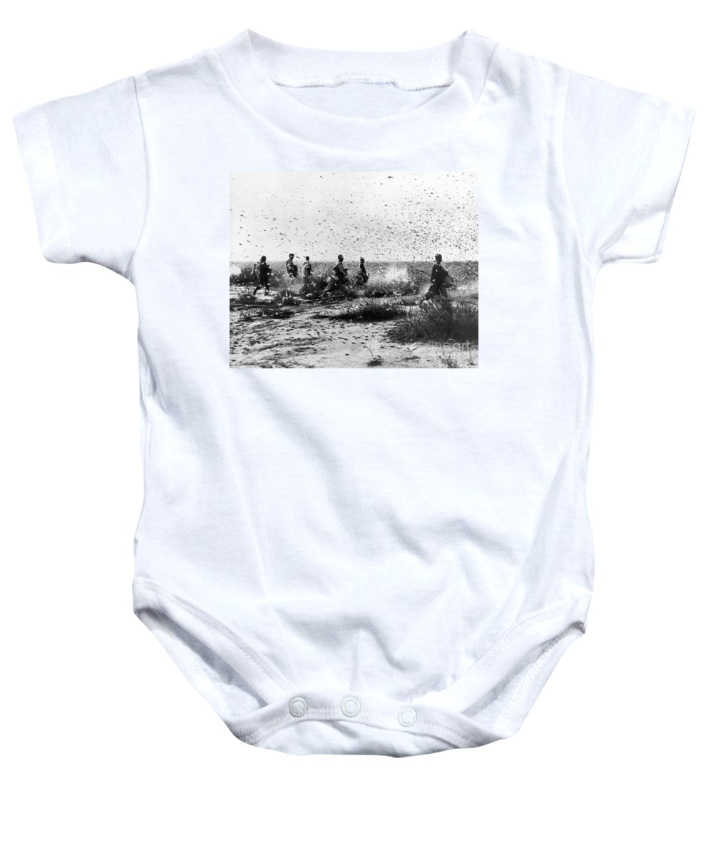 1954 Baby Onesie featuring the photograph Morocco: Locusts, 1954 by Granger