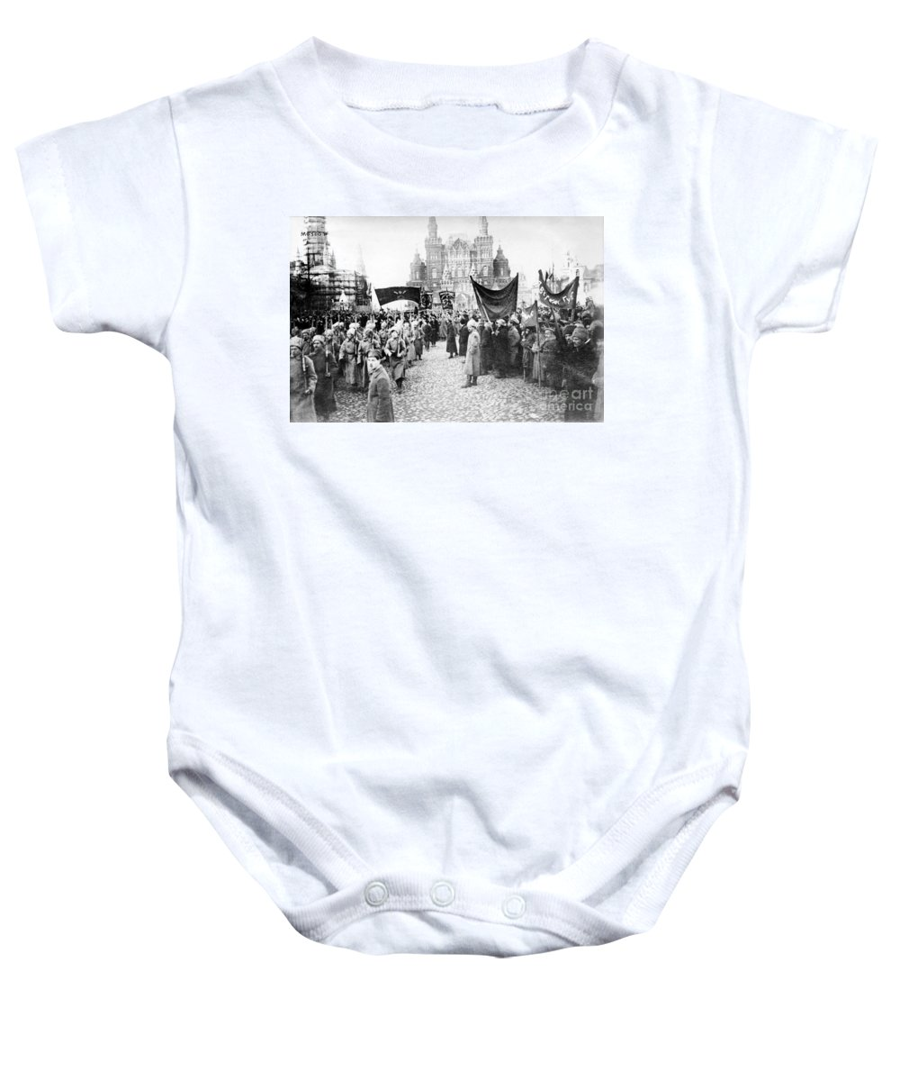 1920 Baby Onesie featuring the photograph Moscow: Red Army, C1920 by Granger