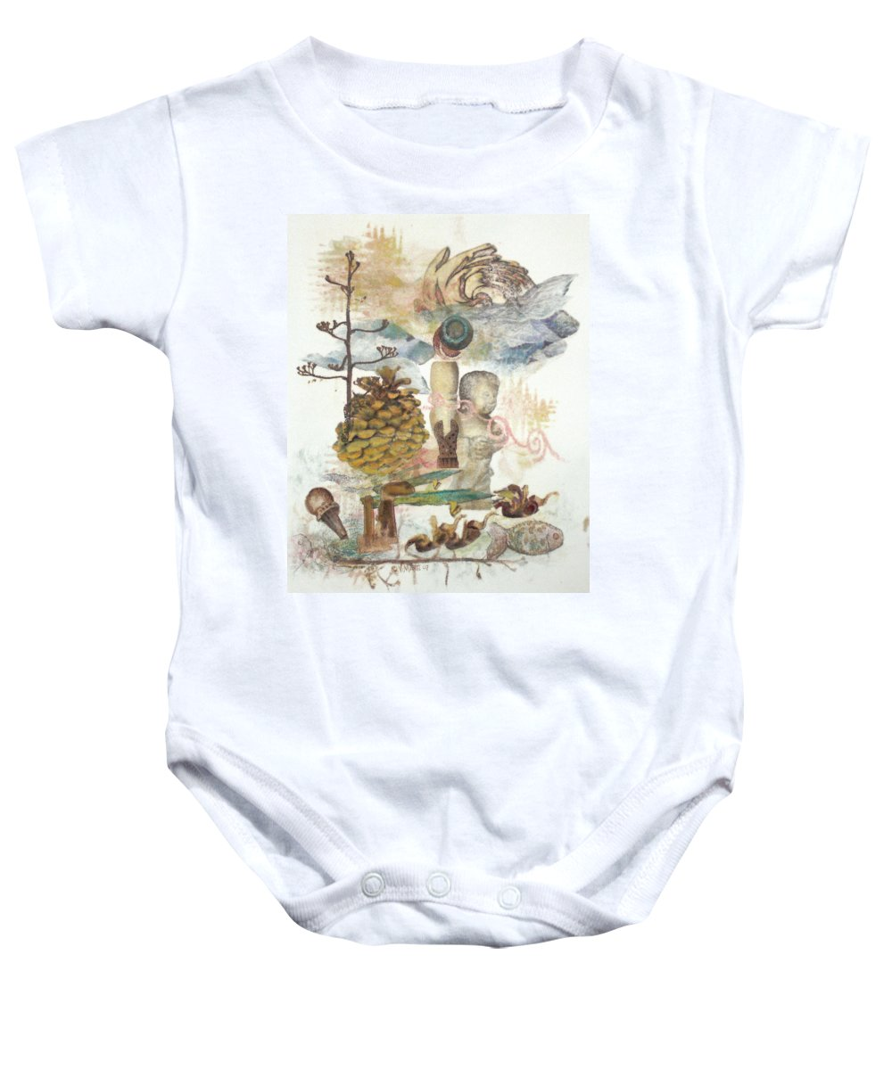 Abstract Baby Onesie featuring the painting Move Along by Valerie Meotti