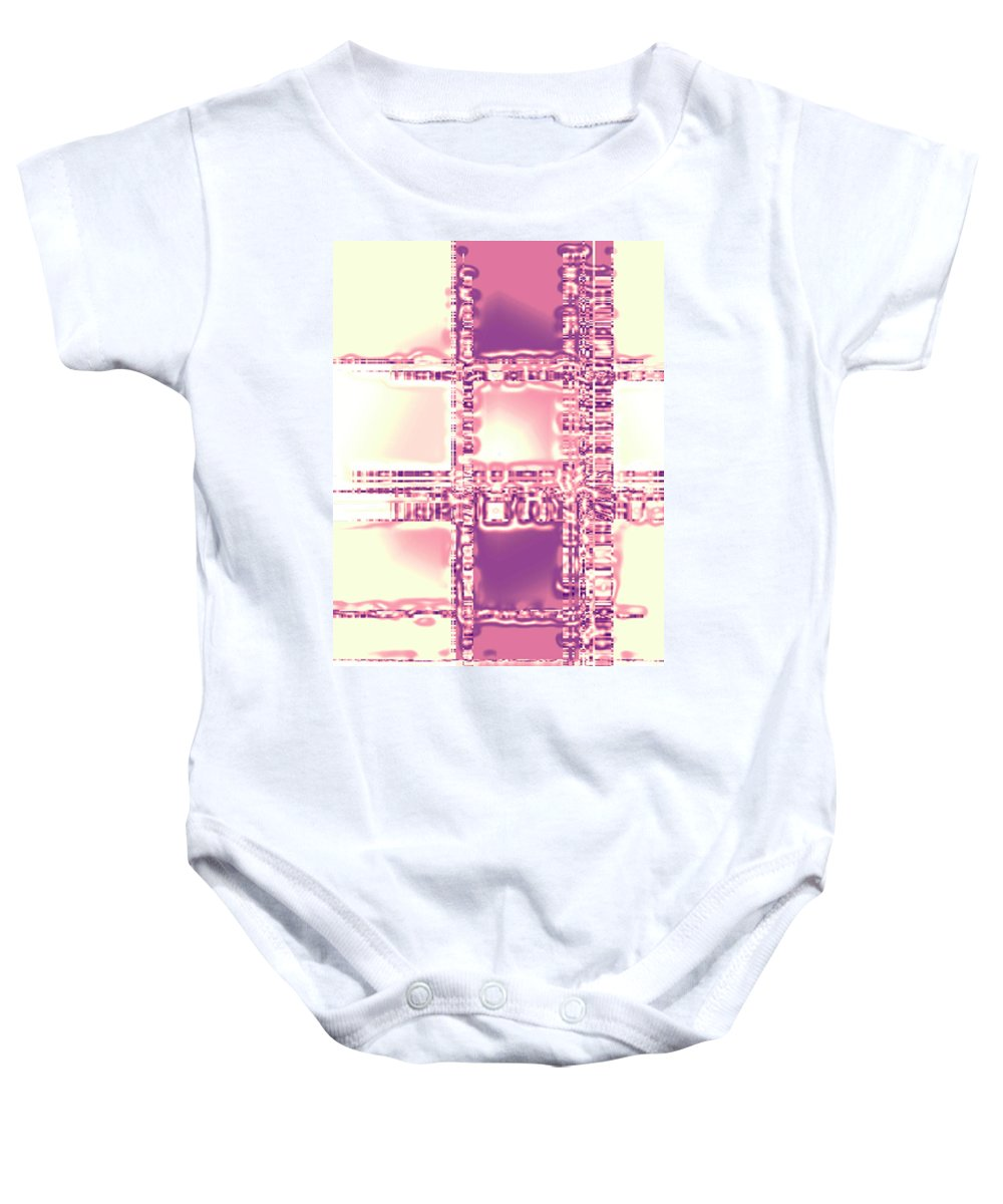 Moveonart! Digital Gallery Baby Onesie featuring the digital art Moveonart Thoughtful Intersections by Jacob Kanduch