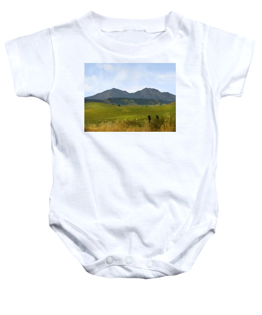 Landscapes Baby Onesie featuring the photograph Mt. Diablo Mcr2 by Karen W Meyer
