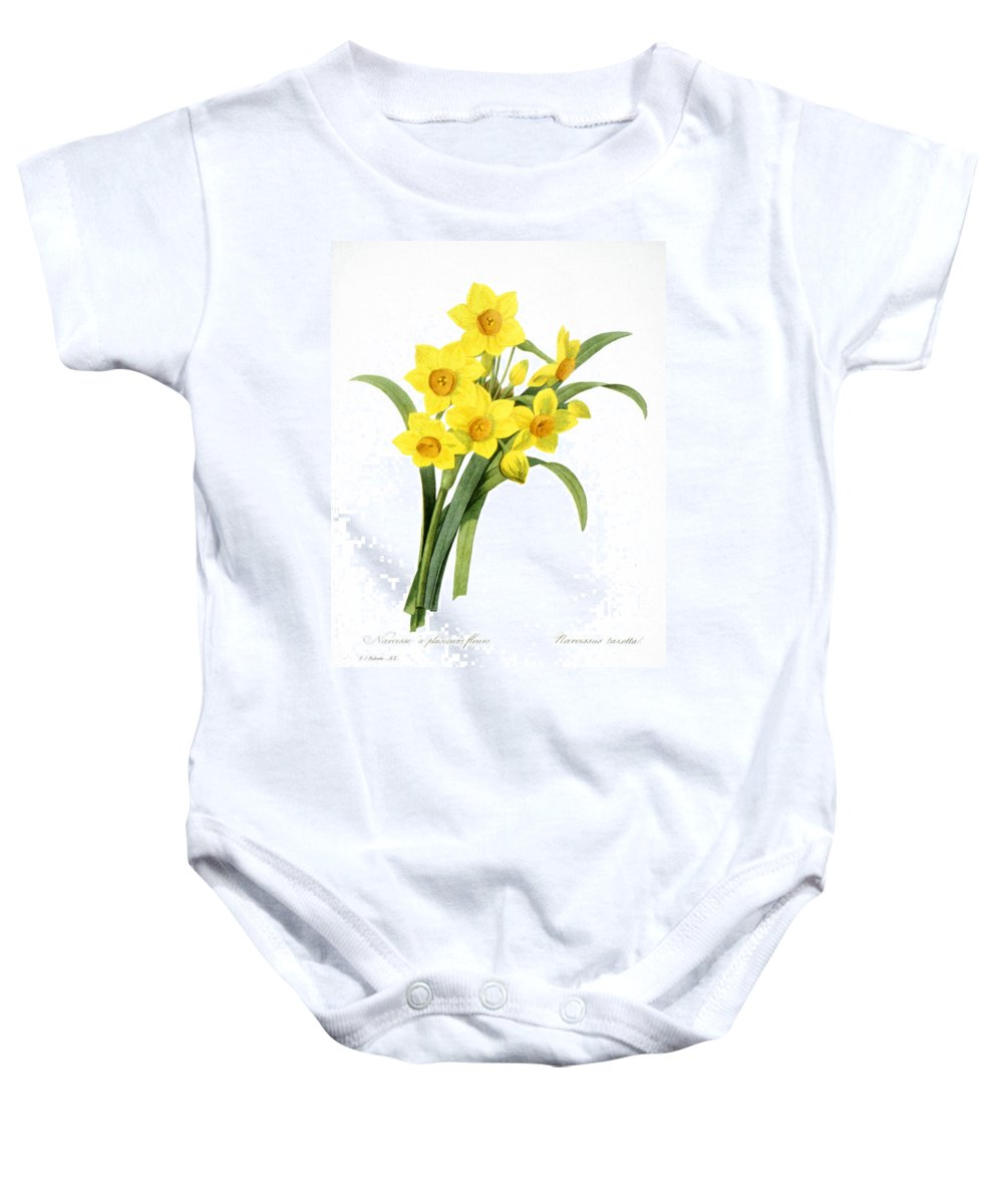 1833 Baby Onesie featuring the photograph Narcissus (n. Tazetta) by Granger