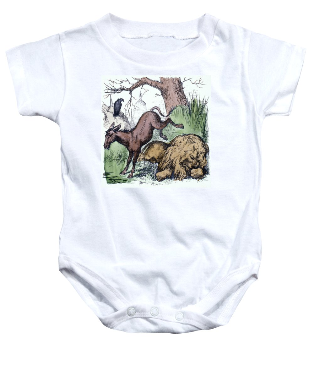 1870 Baby Onesie featuring the photograph Nast: Democratic Donkey by Granger