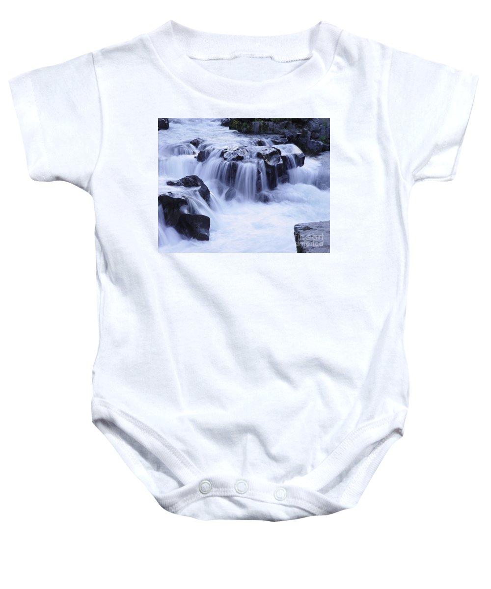 Waterfall Baby Onesie featuring the photograph Natural Bridges Falls 01 by Peter Piatt