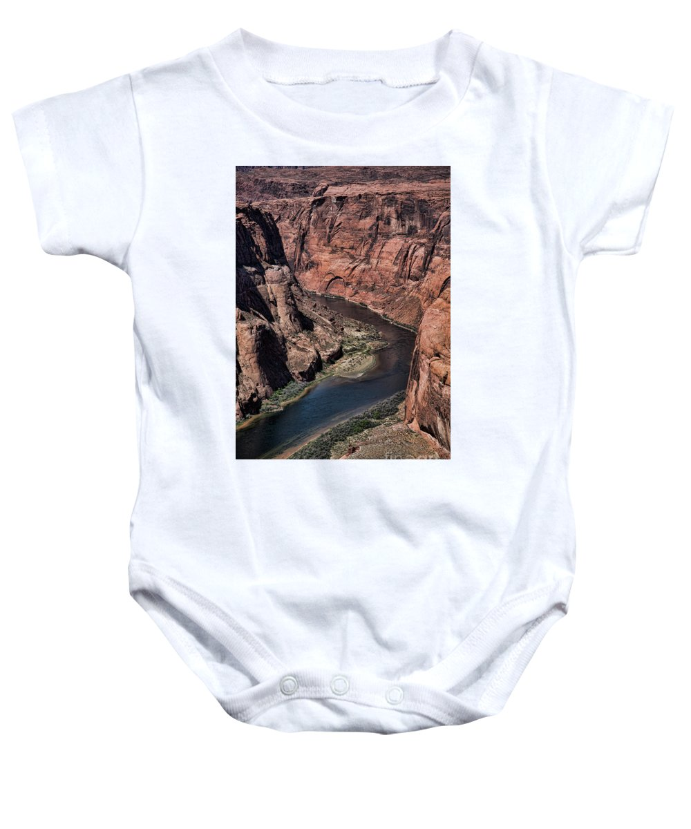 Horseshoe Bend Baby Onesie featuring the photograph Natural Colorado River Page Arizona by Chuck Kuhn