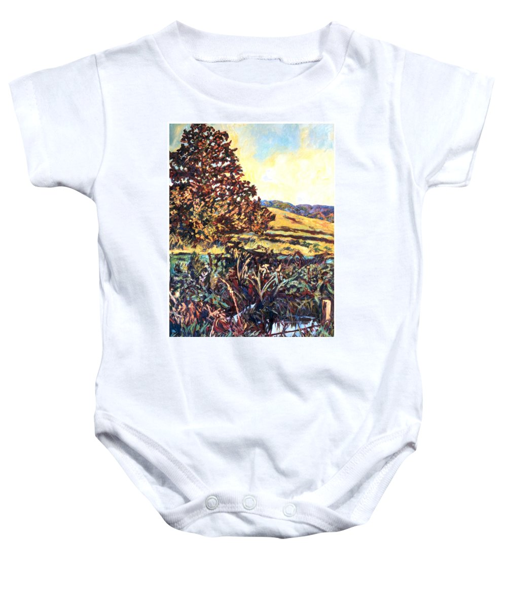 Landscape Baby Onesie featuring the painting Near Childress by Kendall Kessler