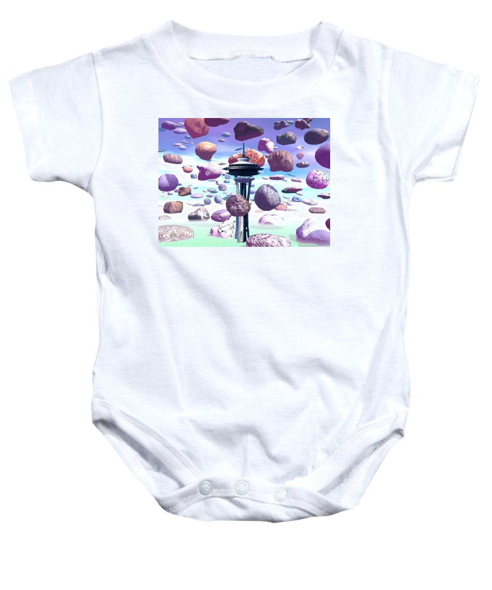 Seattle Baby Onesie featuring the photograph Needle Rocks by Tim Allen