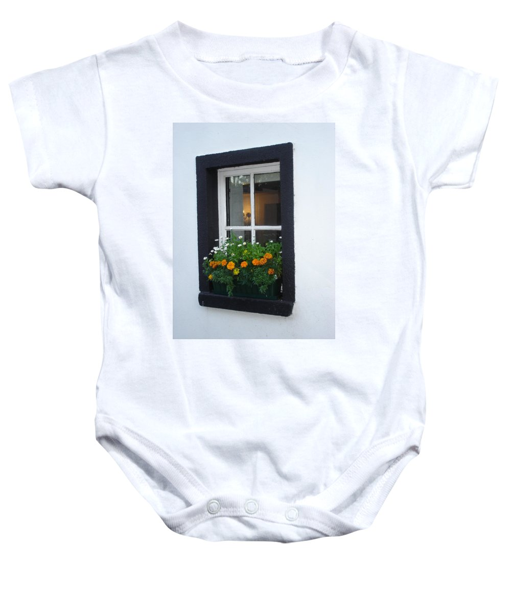 Window Baby Onesie featuring the photograph Neighbor by Kelly Mezzapelle