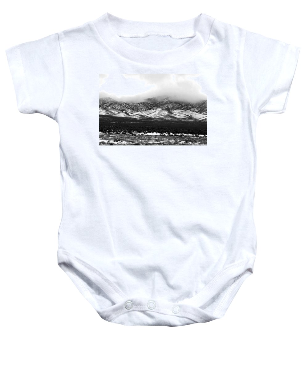 Snow Baby Onesie featuring the photograph Nevada Snow by Nelson Strong