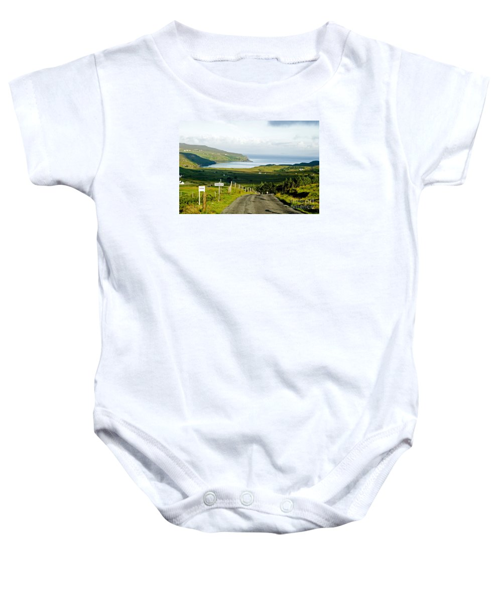 Fasach Baby Onesie featuring the photograph Never Never Land by Jim Macdonald