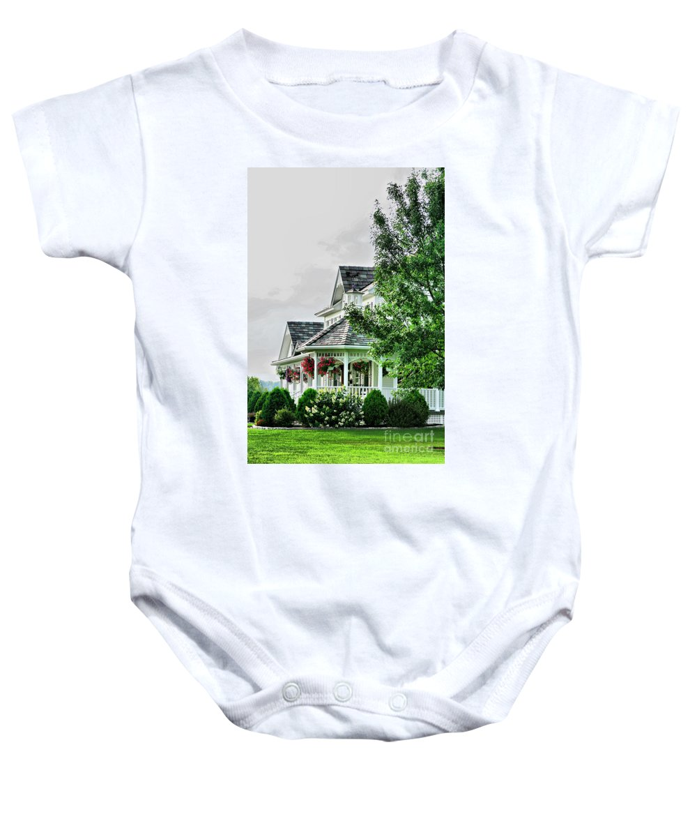 New England Baby Onesie featuring the photograph New England Beauty by Deborah Benoit