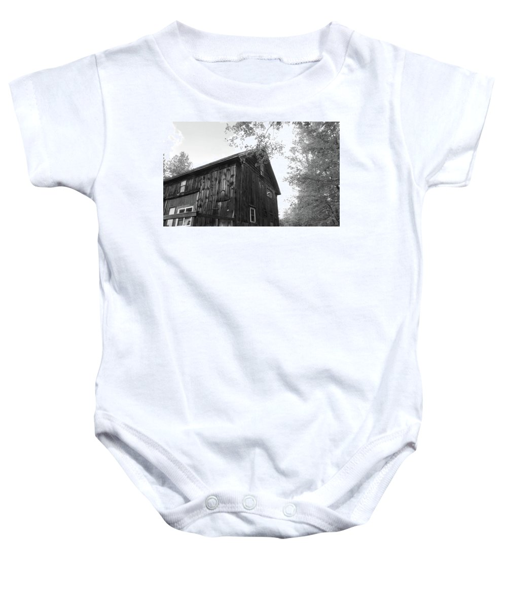 Fall In Black And White Baby Onesie featuring the photograph New England Fall Love by Traci Barnes