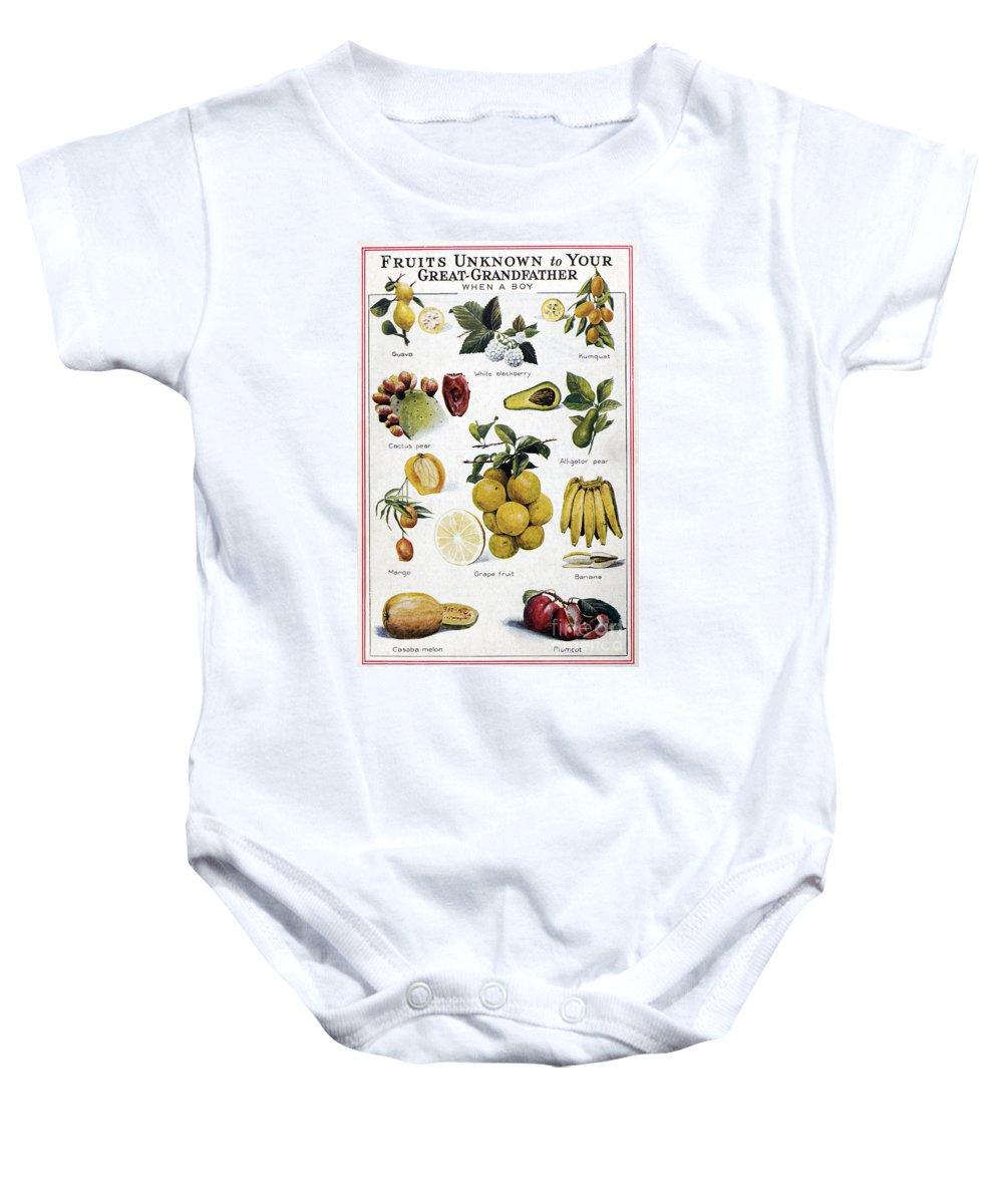 1950 Baby Onesie featuring the photograph New Fruits, C1950s by Granger