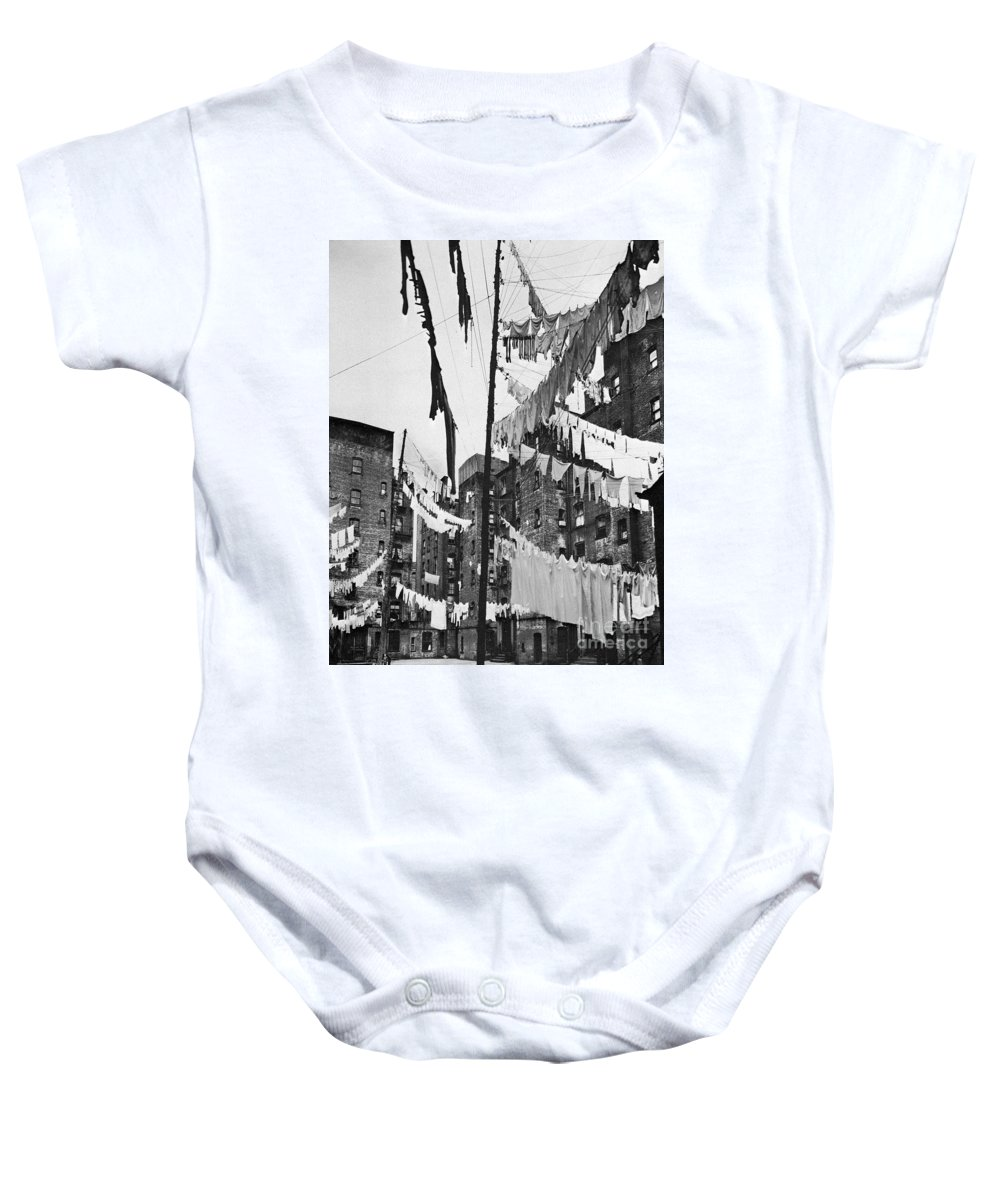 1936 Baby Onesie featuring the photograph New York: Tenement, 1936 by Granger