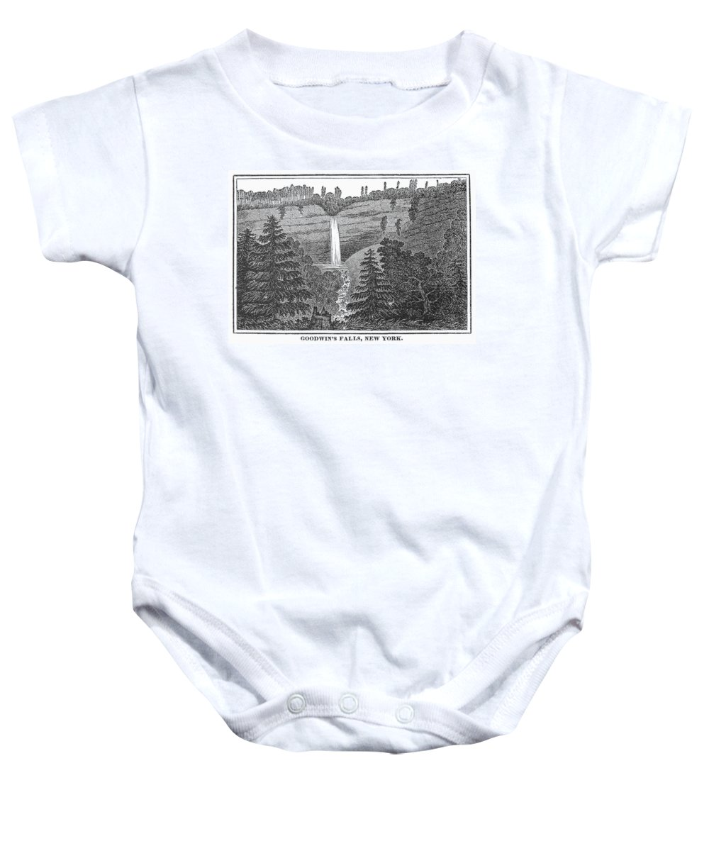 1840 Baby Onesie featuring the photograph New York: Waterfall by Granger