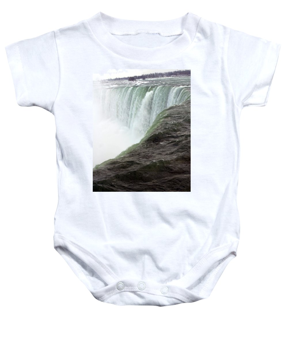 Niagara Falls Baby Onesie featuring the photograph Niagara Falls 1 by Anthony Jones
