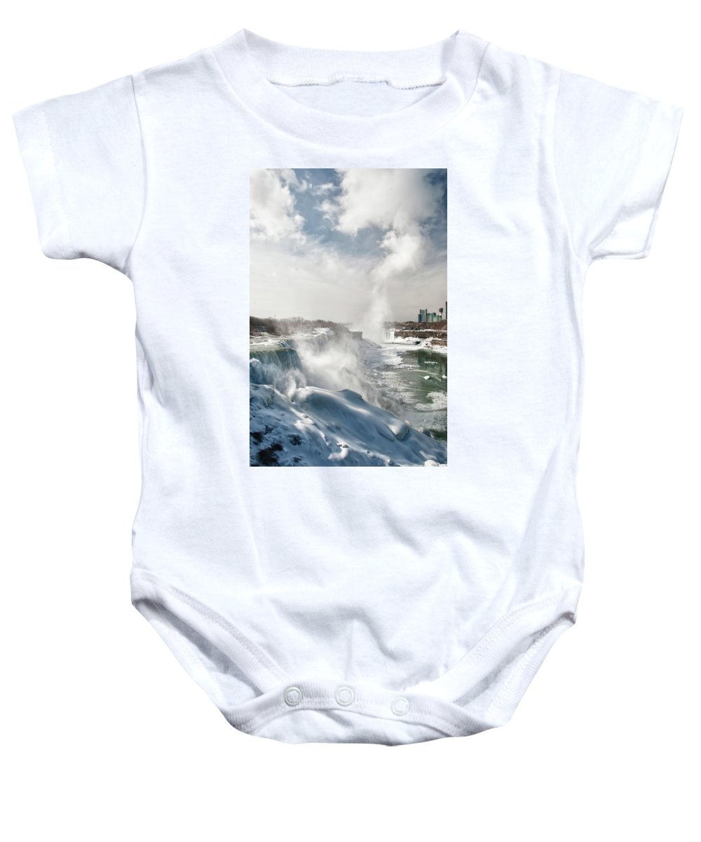 Niagara Falls Baby Onesie featuring the photograph Niagara Falls 4601 by Guy Whiteley