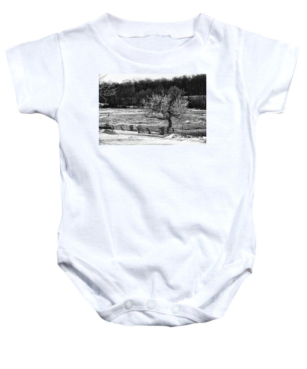 Niagara Falls Baby Onesie featuring the photograph Niagara Falls Ice 4514 by Guy Whiteley