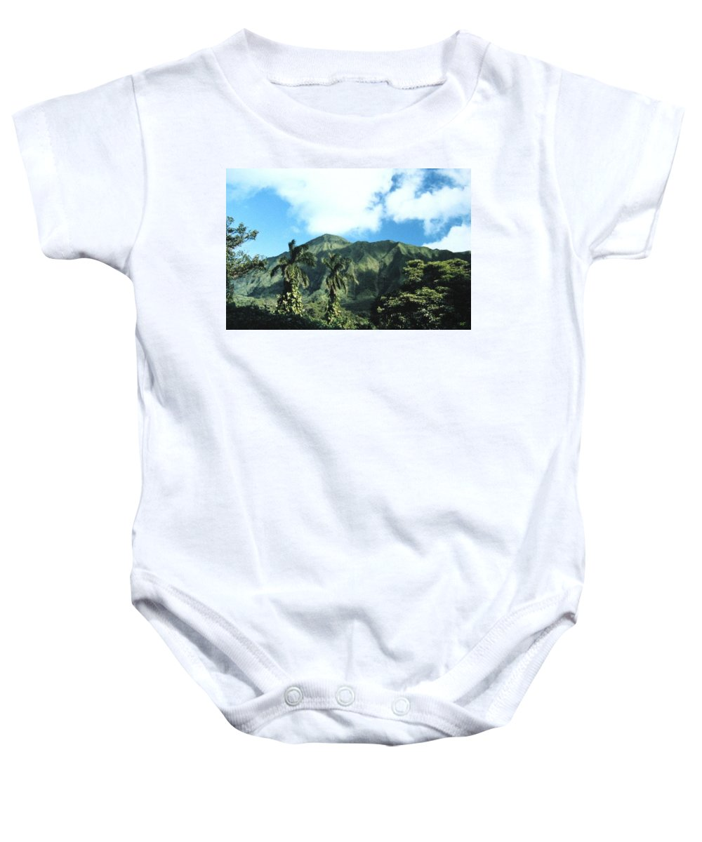 1986 Baby Onesie featuring the photograph Nuuanu Pali by Will Borden