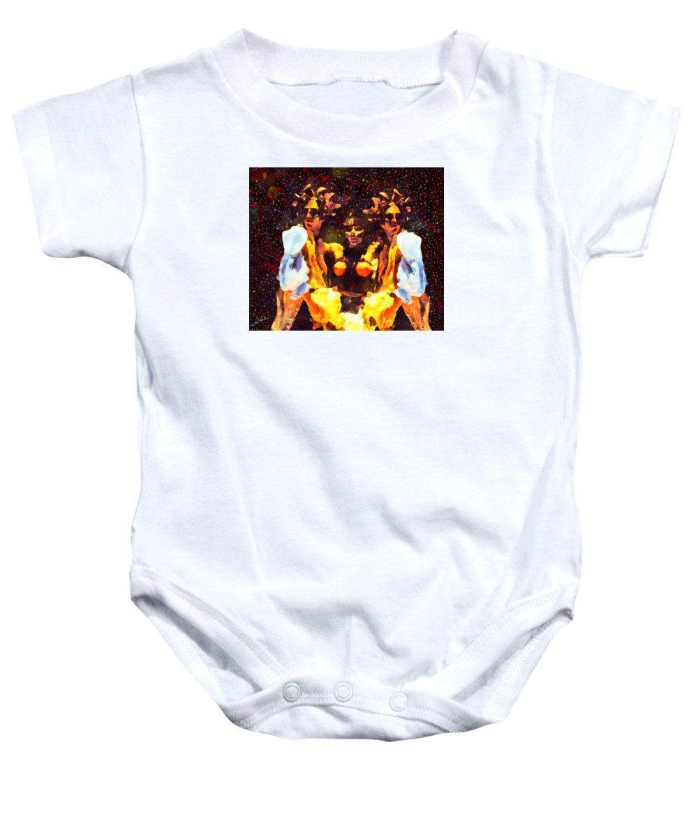 Obscure Baby Onesie featuring the painting Obscure by George Rossidis