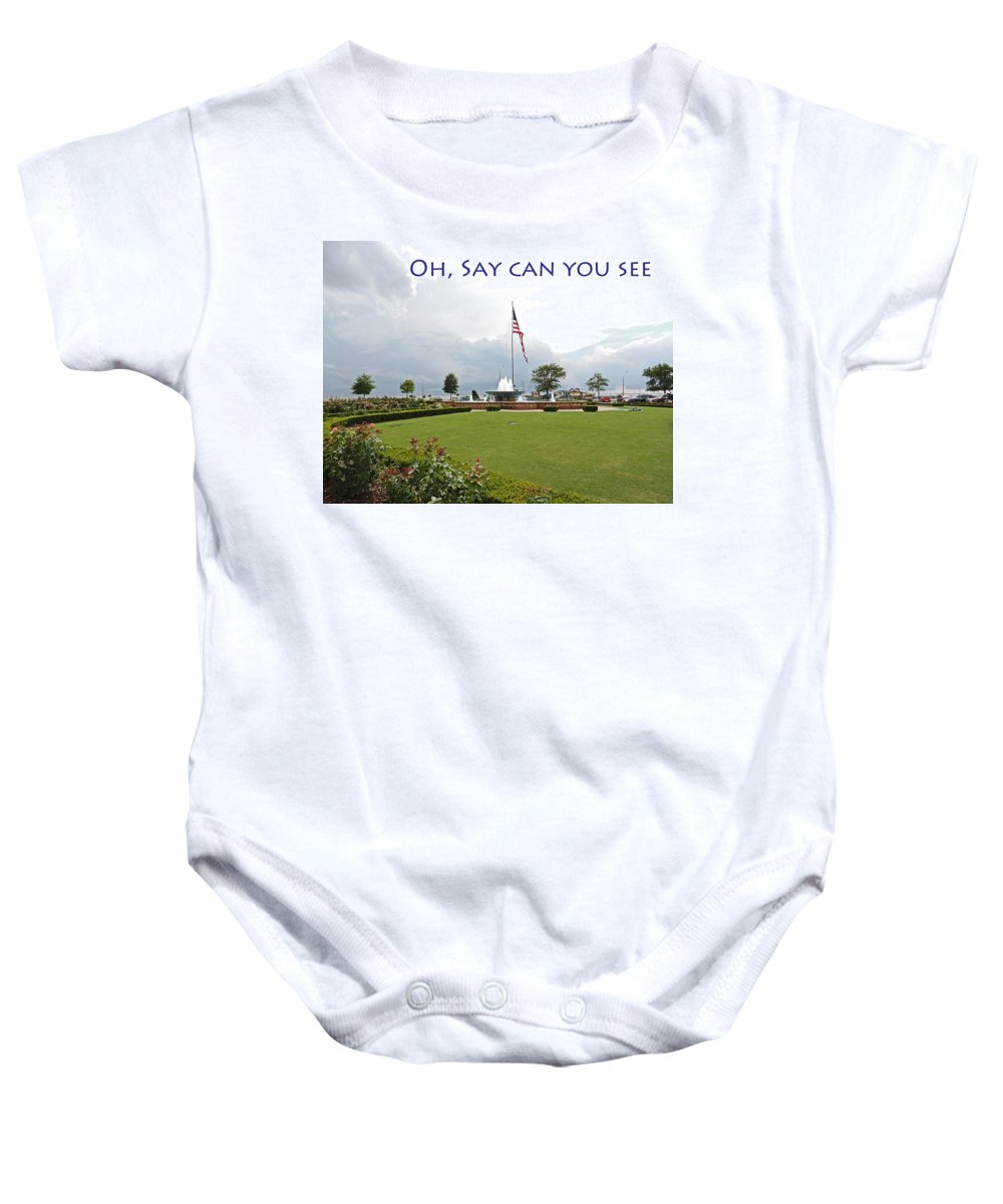 Photographic Print Baby Onesie featuring the photograph Oh Say Can You See by Marian Bell