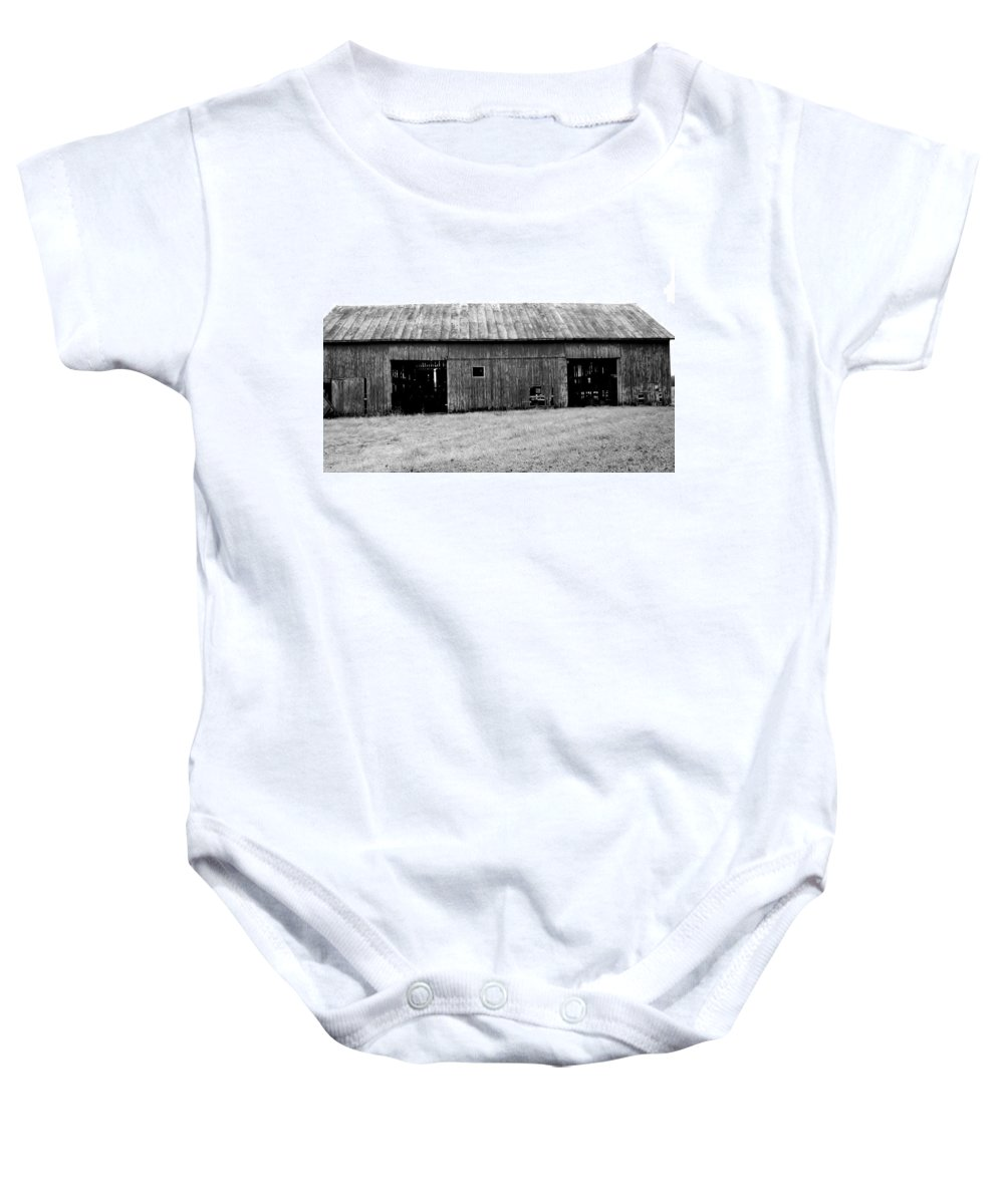 Black Baby Onesie featuring the photograph Old Barn by Rancher's Eye Photography