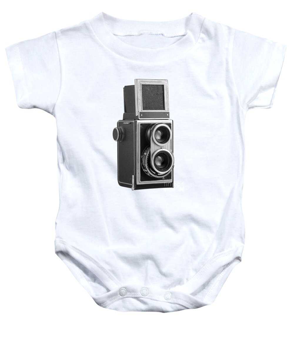 Camera Baby Onesie featuring the photograph Old Camera by Michal Boubin