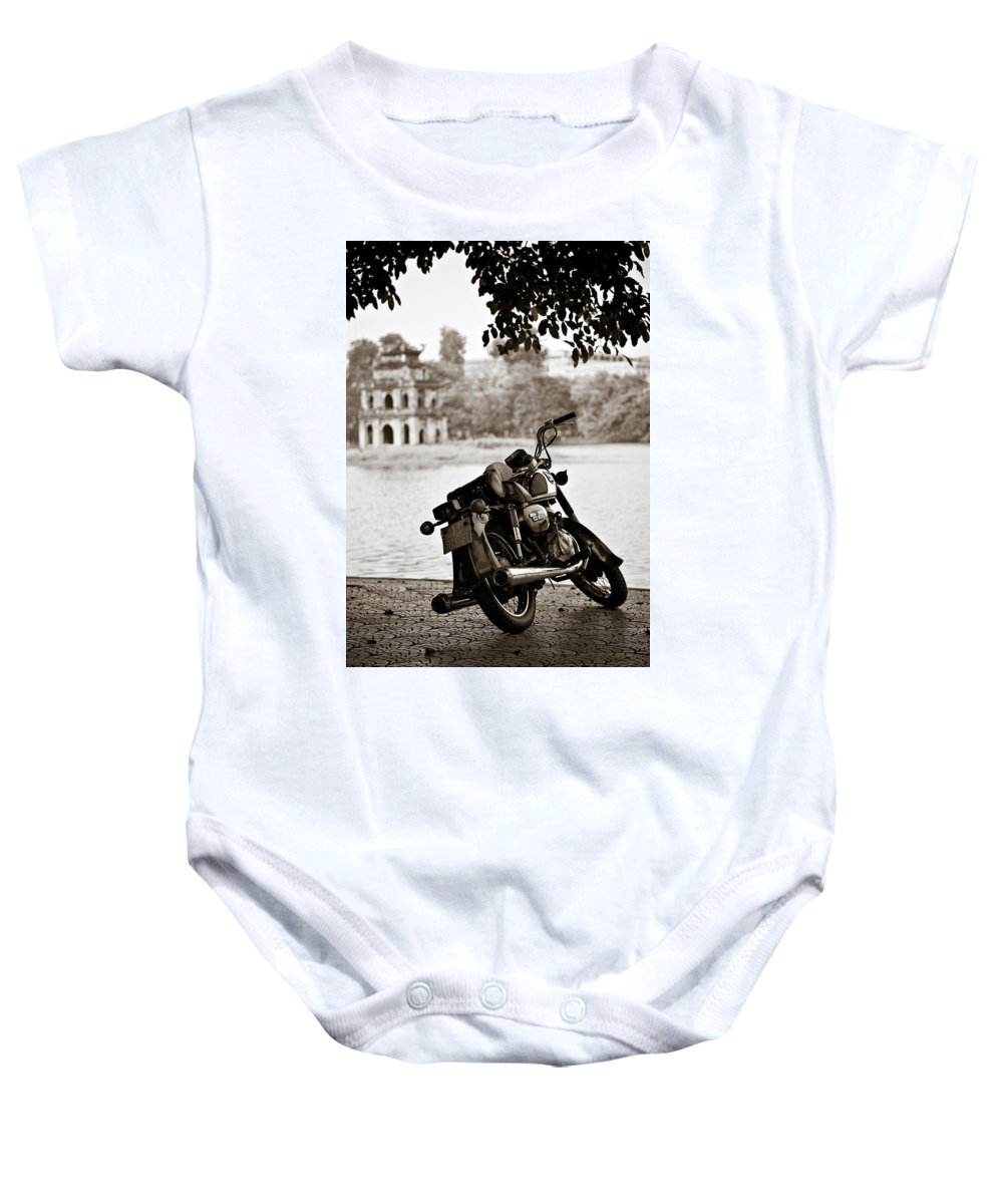 Honda Baby Onesie featuring the photograph Old Honda by Dave Bowman
