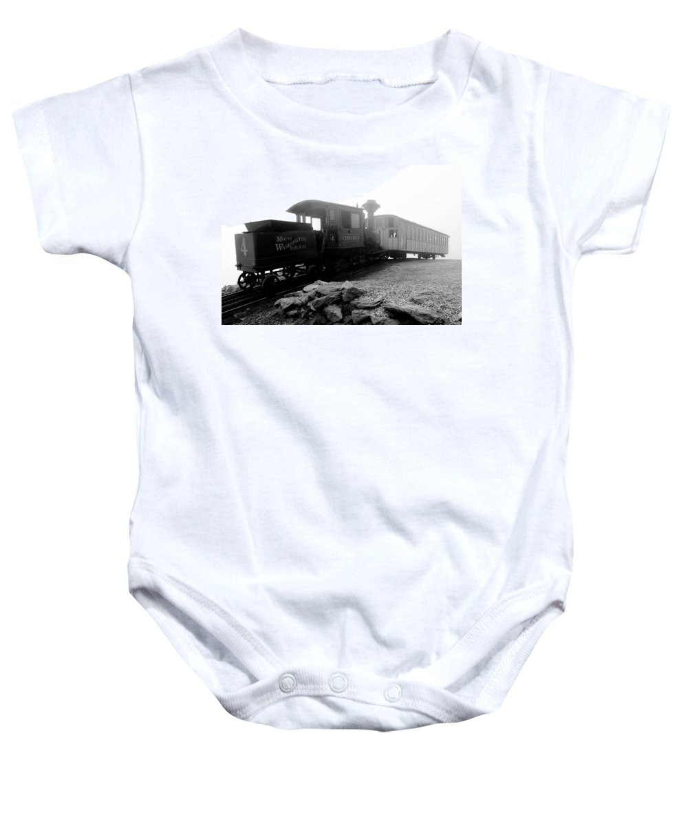 Train Baby Onesie featuring the photograph Old Locomotive by Sebastian Musial