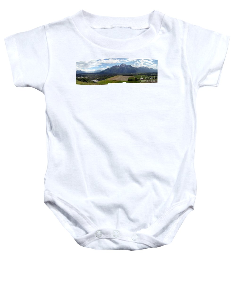 Landscape Baby Onesie featuring the photograph On A Butteiful Day by Ron Bissett
