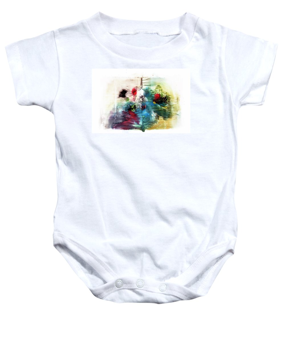 Aquarelle Baby Onesie featuring the painting Open Book by Jana Lulovska