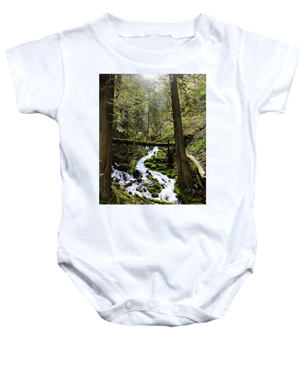 Oregon Baby Onesie featuring the photograph Oregon River by Sierra Vance